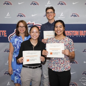 Pictured left to right are Stacy Gramazio, Tiffany Tu, Jackson Payne, and Isabel Garrido