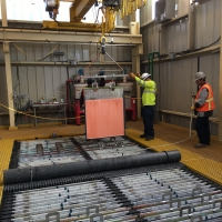 FIrst Copper Cathode Harvest : April 24 2019