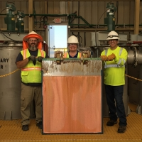First Copper Cathode Harvest - April 24, 2019